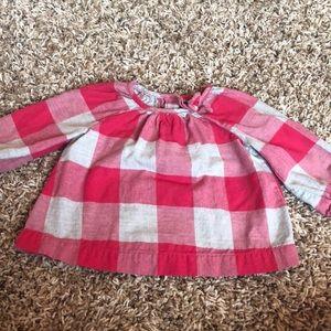 Baby gap plaid girl blouse
